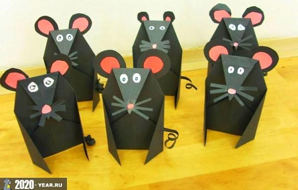 Крысы бумажные поделки