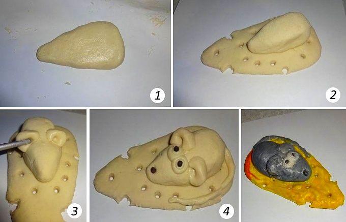 Крыса из соленого теста