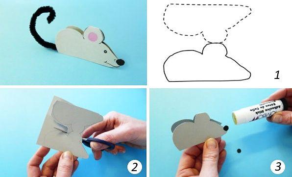Крыса поделка из двух половинок