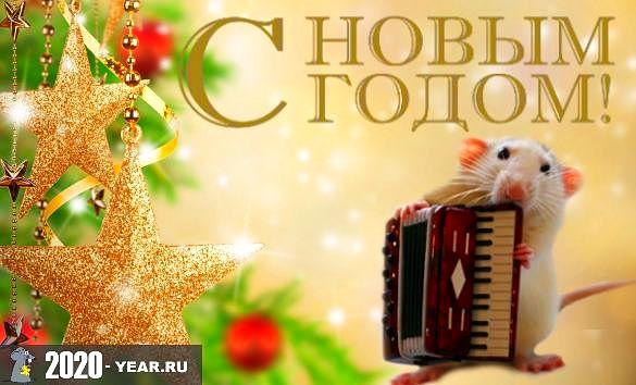 Новогодняя Крыса с гармошкой