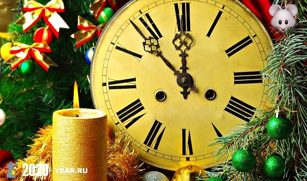 Новогодние часы